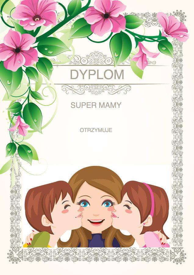 Dzień Matki;: Dyplomy i certyfikaty do druku 6