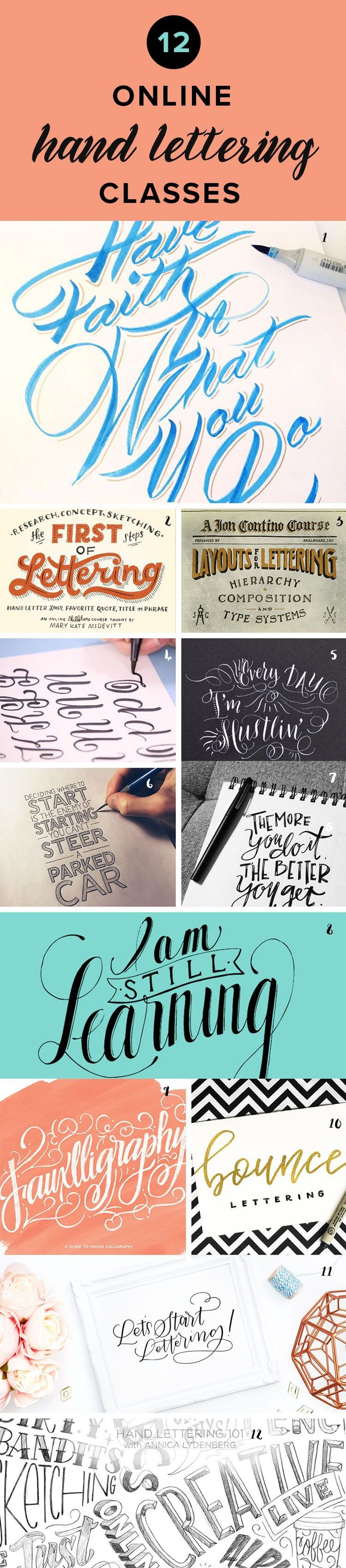 Want to learn hand lettering? Check out these awesome online classes that will teach you everything you need to know