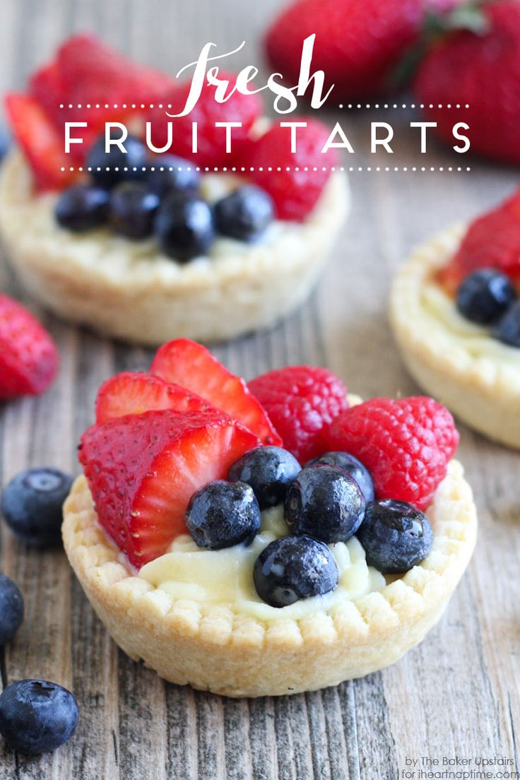 Fresh Fruit Tarts Dessert Recipe on iheartnaptime.com