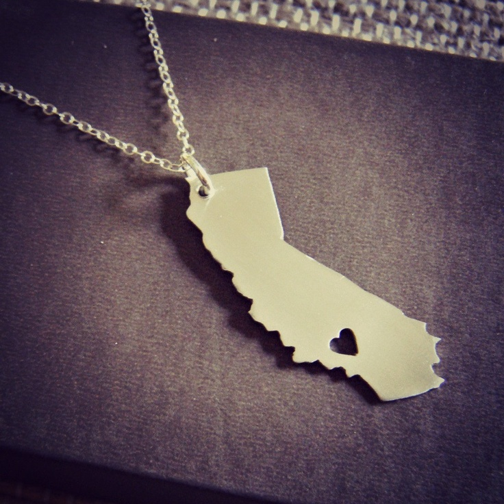California Love Location of Heart is Made to Order by sprout1world, via Etsy. $35.00