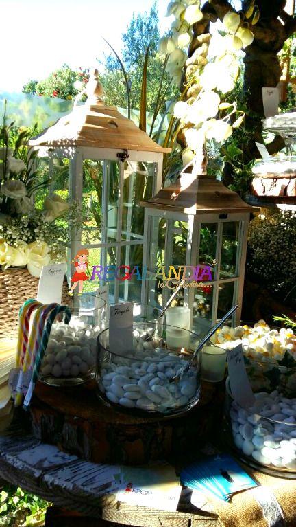 shabby confettata lanterne nozze wedding