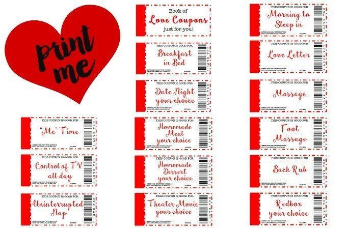 Coupons Boyfriend Printable Valentine