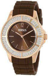 Versus by Versace Women's SGM060013 Tokyo Crystal Analog Display Japanese Quartz Brown Watch