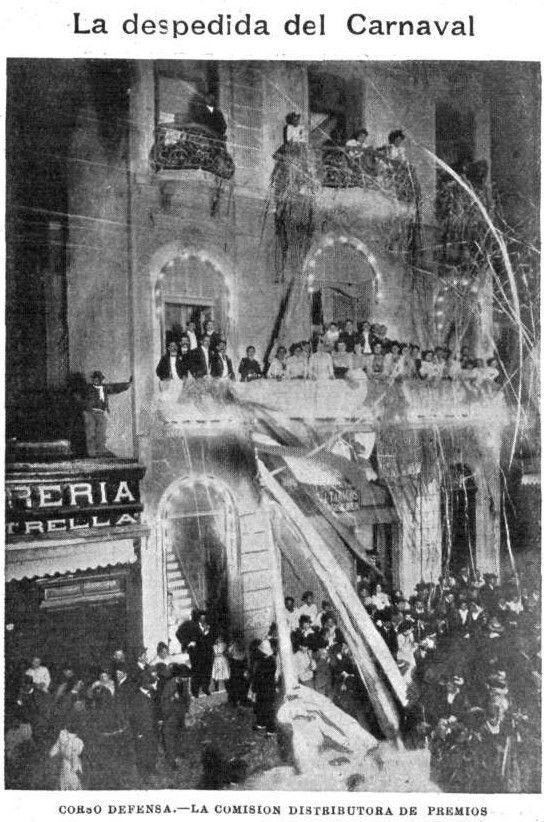 Carnaval en 1901 en Buenos Aires