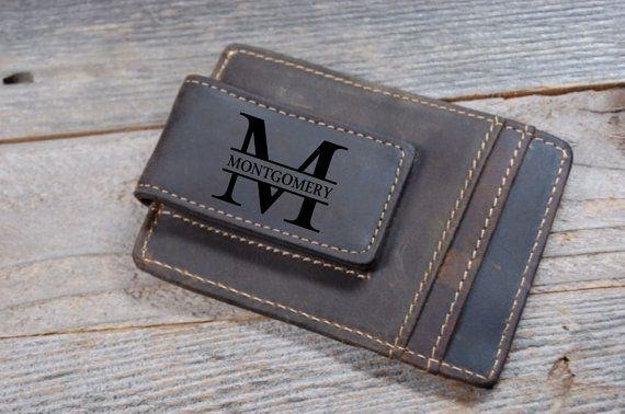 Vacchetta cuoio denaro clip personalizzato di KottageInspirations
