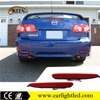 Red Lens ABS Material 12V Wateproof LED Auto Brake Light Rear Tail Lamp Bumper Reflector Lights For Mazda 6