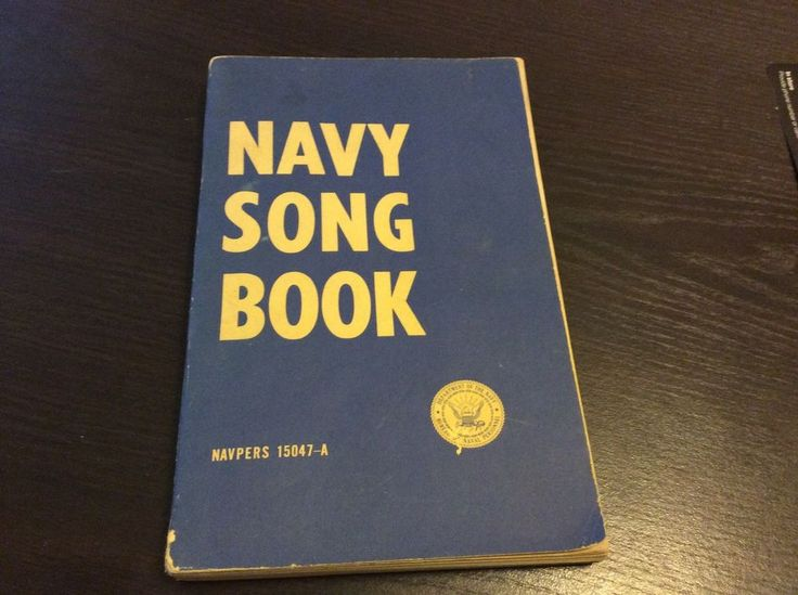 1958 DEPARTMENT OF THE NAVY SONG BOOK 100+ pages