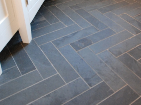 Herringbone marble or slate tile, 2012 Princess Margaret Showhome