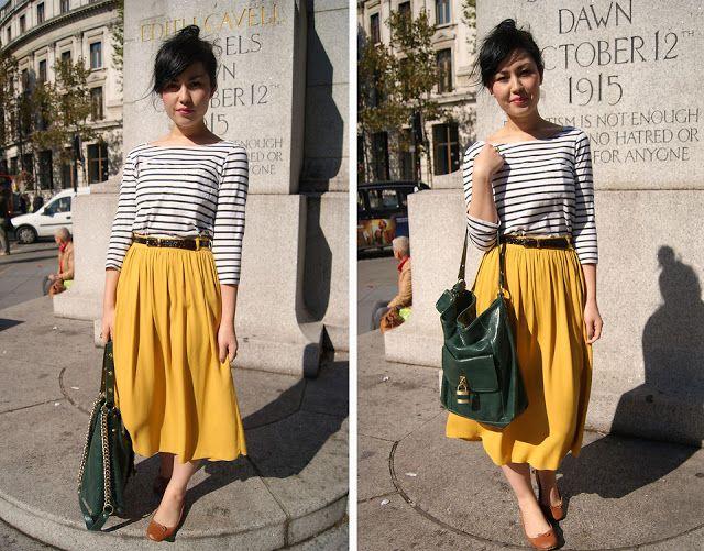 Y. A. Q. - Blog de moda, inspiración y tendencias: [Y ahora qué me pongo con] Una falda hasta las rodillas