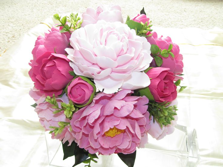 Peony Flower Arrangements | love Peonies.. The first project of the C 3 series is the Bouquet ...