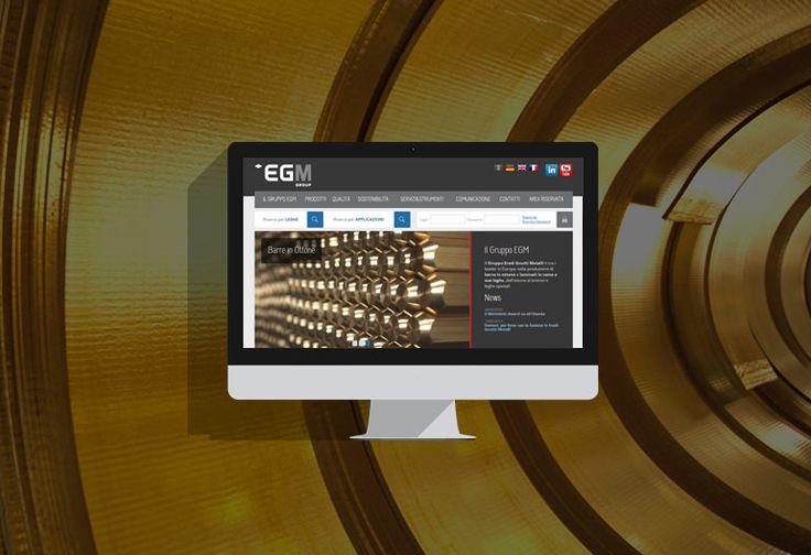 Nuovo sito per EGM, tra i leader europei nella produzione di barre in ottone e nastri in rame.  A seguito dell'aggregazione di diverse società nel Gruppo Eredi Gnutti Metalli, si è reso necessario unificare i diversi siti aziendali in un unico punto di riferimento online. #webdesign