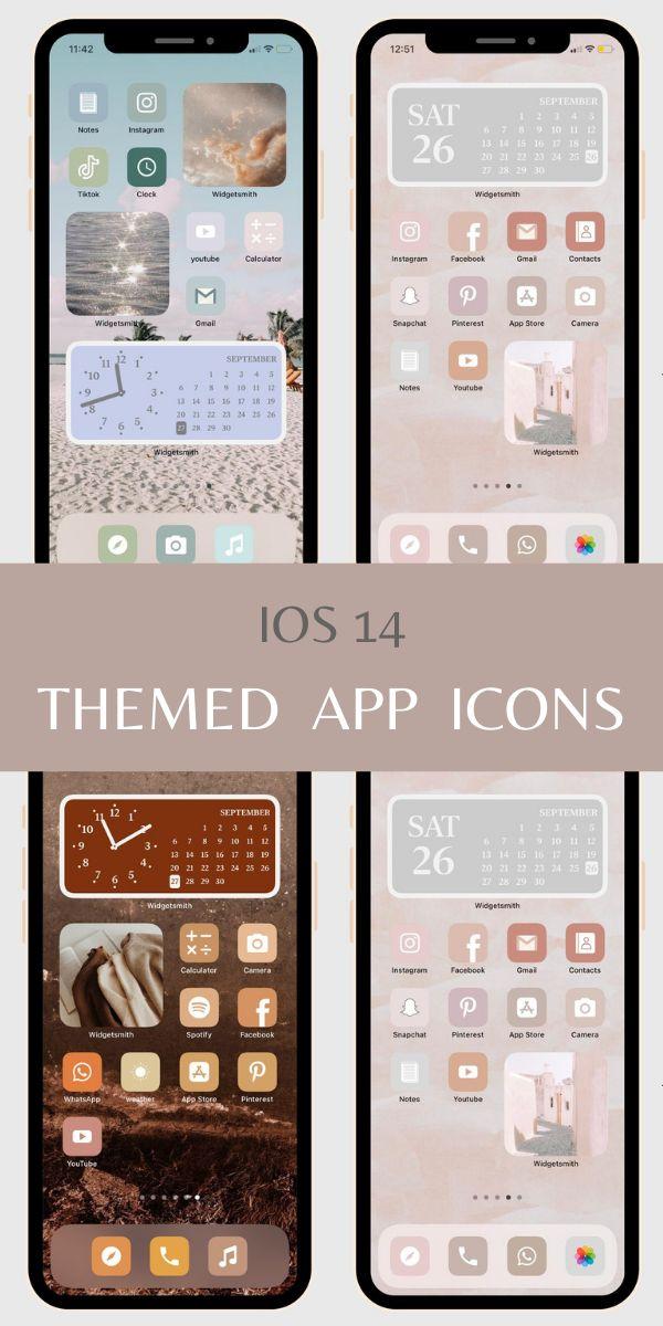 iOS14 app icon cover, iOS 14 Fall minimalist aesthetic App