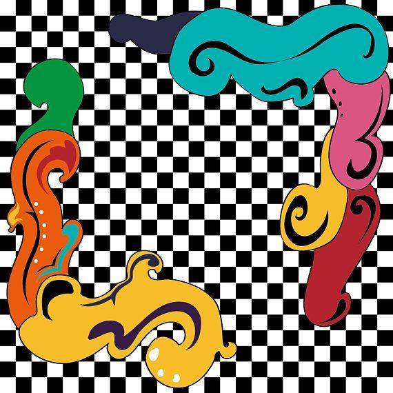 ILLUSTRAZIONE ASTRATTA quadretti e colori curve e forme