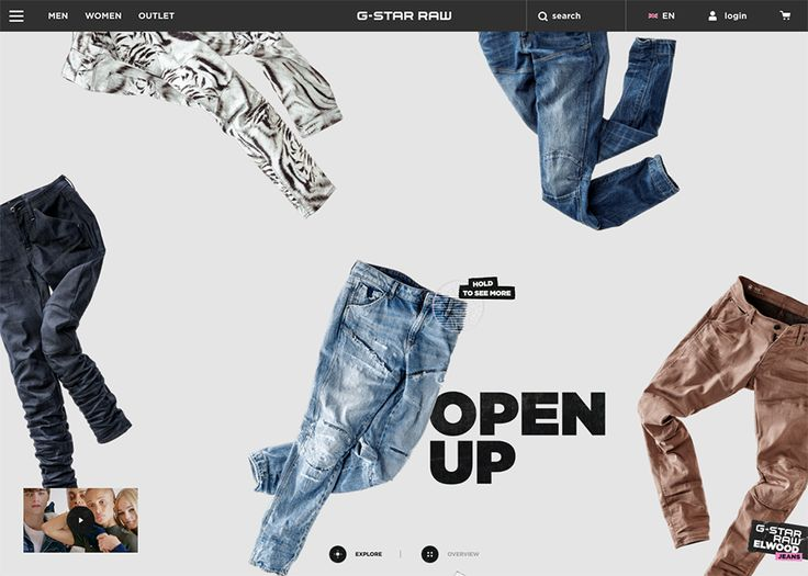 Winning design - G-Star Elwood Jeans @Awwwards!