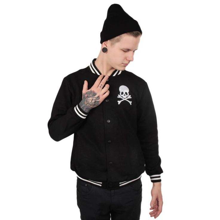 Super cool baseball jacket for guys with skulls! Chek it out here! --> http://www.cybershop.fi/product/10728/miesten-paakallo-baseball-takki