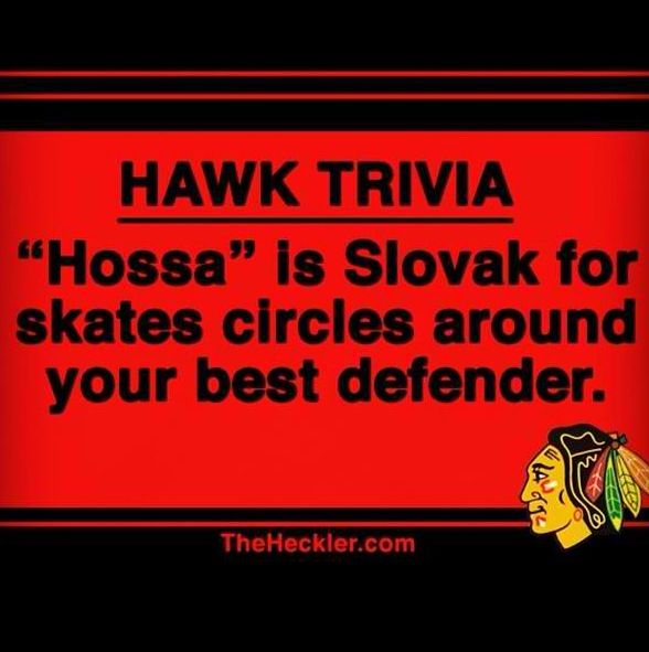 Because he's Marian Hossa and you're not.
