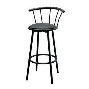 ORE International Set of 2 Swivel Barstools, Black