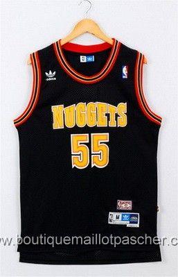 maillot nba pas cher Denver Nuggets Mutombo #55 Noir mesh tissu 22,99€