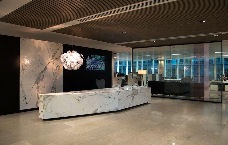 Contemporary Office Interiors By Magnus Ociates Reception Desk Open Plan