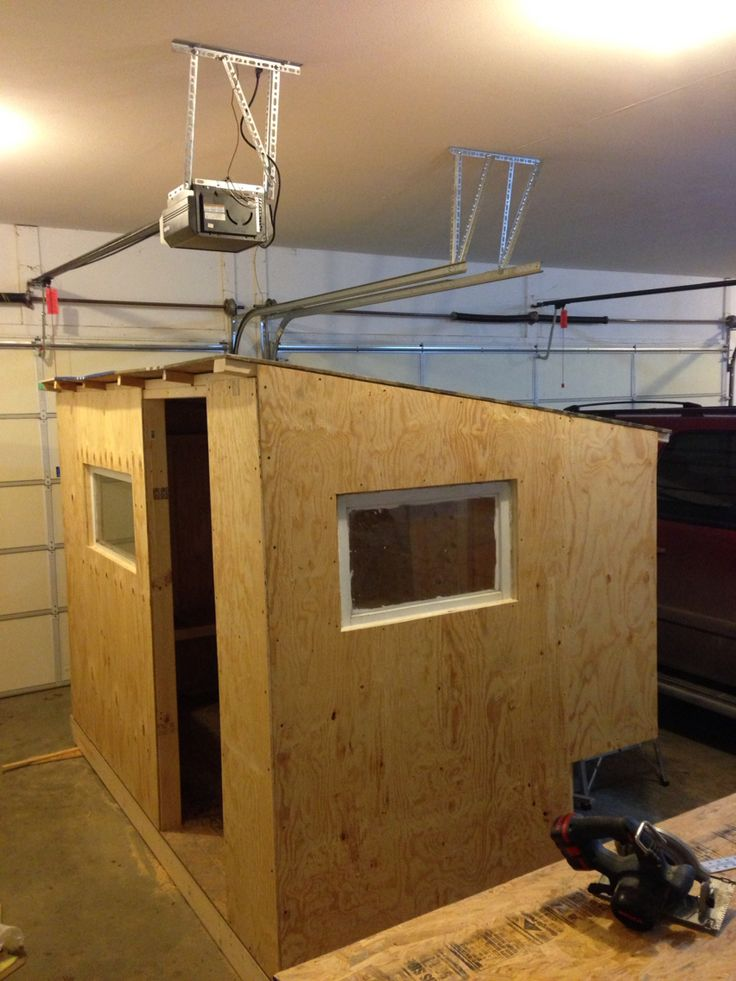 All The Walls Up With The Roof Ice Fishing Shanty Pinterest Ice Fishing And Ice Fishing