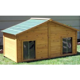 Doggie duplex. One side for the dog, the other for the hubby!