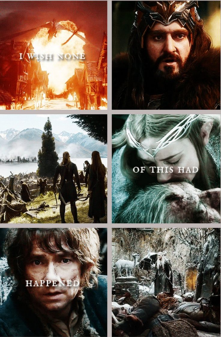 """""""I wish the Ring had never come to me"""" - The Battle of the Five Armies."""