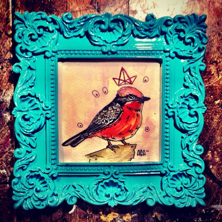 #AGA #art #artist #agaartist #work #watercolor #paint #pencil #bird #crown #red