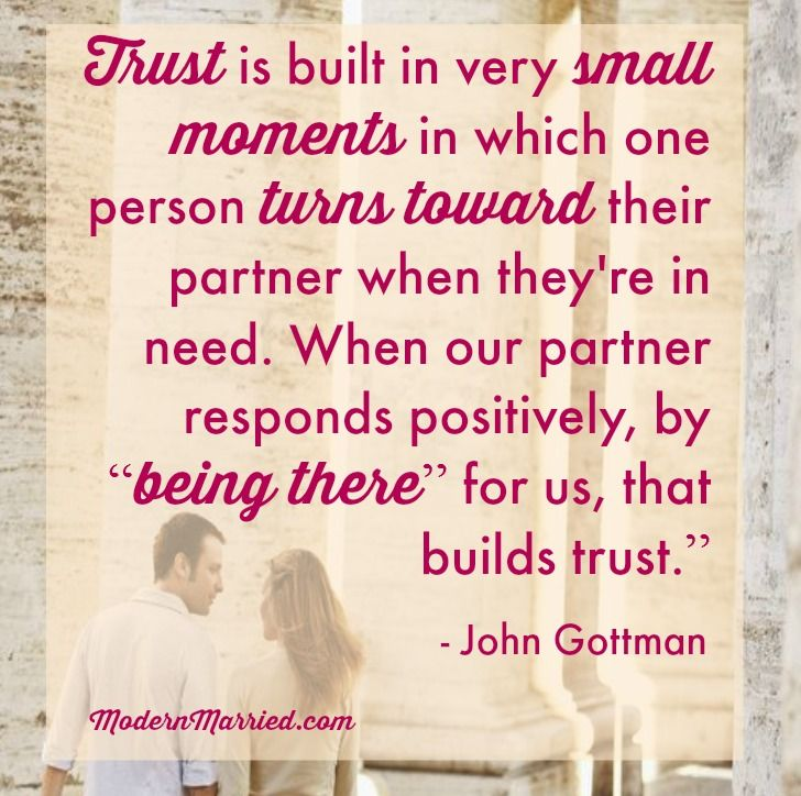 A Tendency To Turn Toward Your Partner Is The Basis Of Trust. (image Via