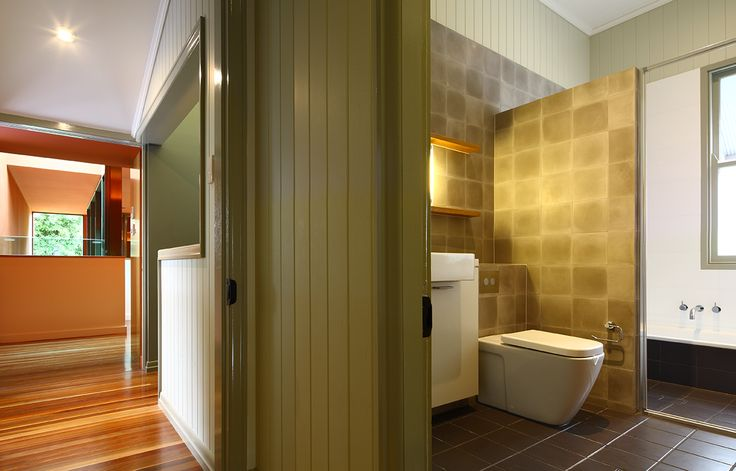 Bulimba House: Bathroom renovation in Queenslander. See more at http://blighgraham.com.au/projects/bulimba-house-1