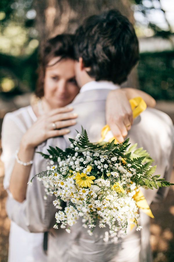daisy bouquet yellow wedding florence #matrimonio #giallo #margherite #olasz #esküvő #Firenze #margaréta #csokor matrimonio intimo giallo a sesto fiorentino | janos kummer-18