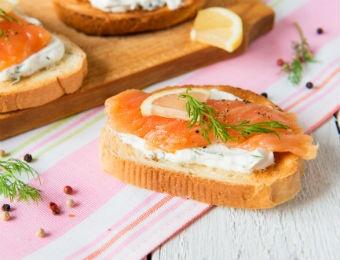 Desayunos de Cuaresma con salmón ahumado