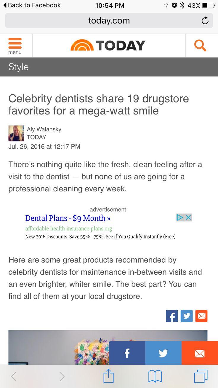 Celebrity dentists share 19 drugstore favorites for a mega-watt smile.  TODAY. July 26, 2016