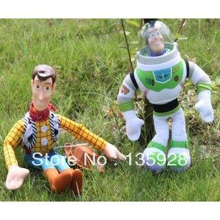 История игрушек 40 см Шериф Вуди 30 см Базз Лайтер Куклы Мягкие Игрушки Новый ПВХ Фигурку игрушки Подарок
