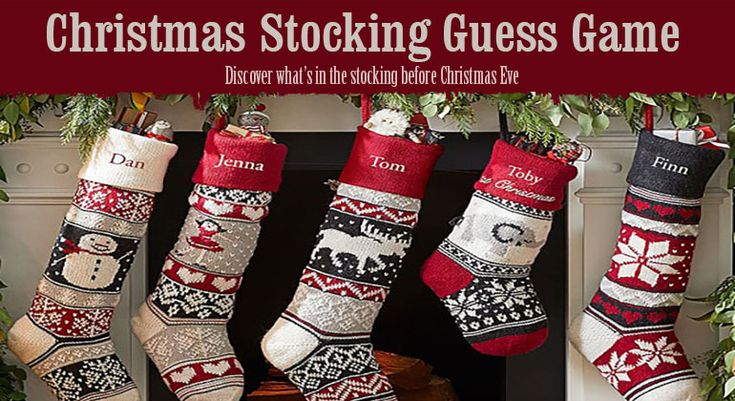 Christmas Stocking Guessing Game is the fun discovery game, where players try to identify what is in the stocking. Great for kids, but works for all ages.