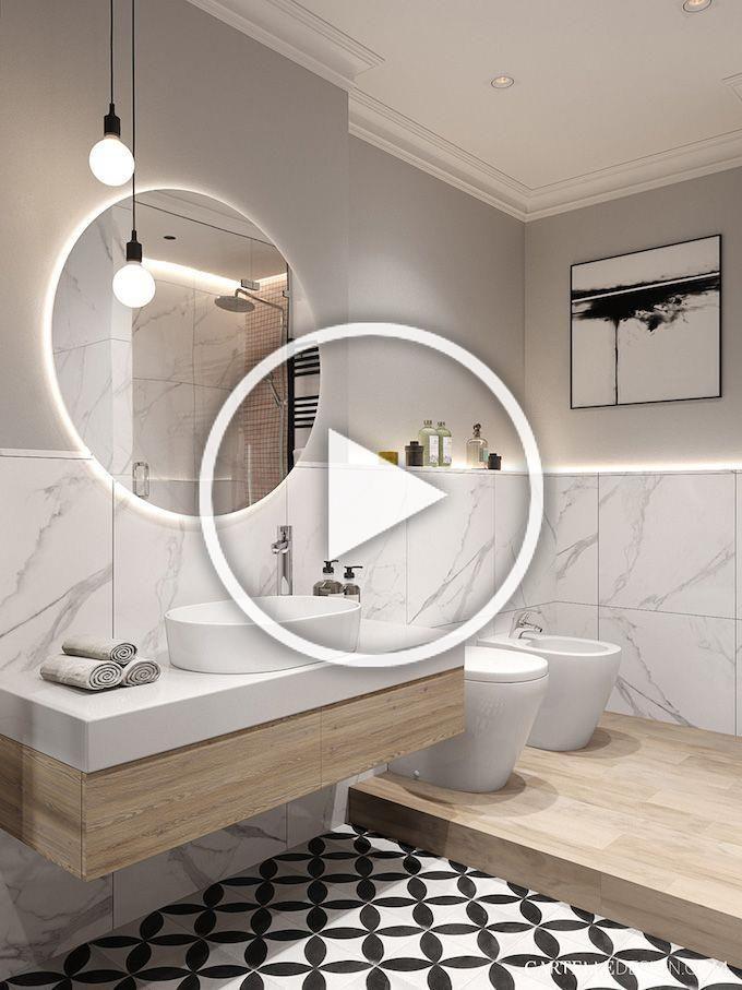 Salledebain Douche Toilette Marbre Marbreblanc Marbrenoir Bathroom Miroir In 2020 Modern Bathroom Remodel Rustic Bathroom Shelves Brown Bathroom Decor