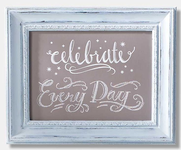 DIY Easy Chalkboard Frame Using FolkArt Home Decor Chalk