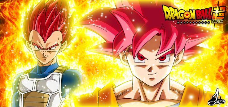 Escena Goku y vegeta super Saiyajin Dios (SaoDvD) by jaredsongohan
