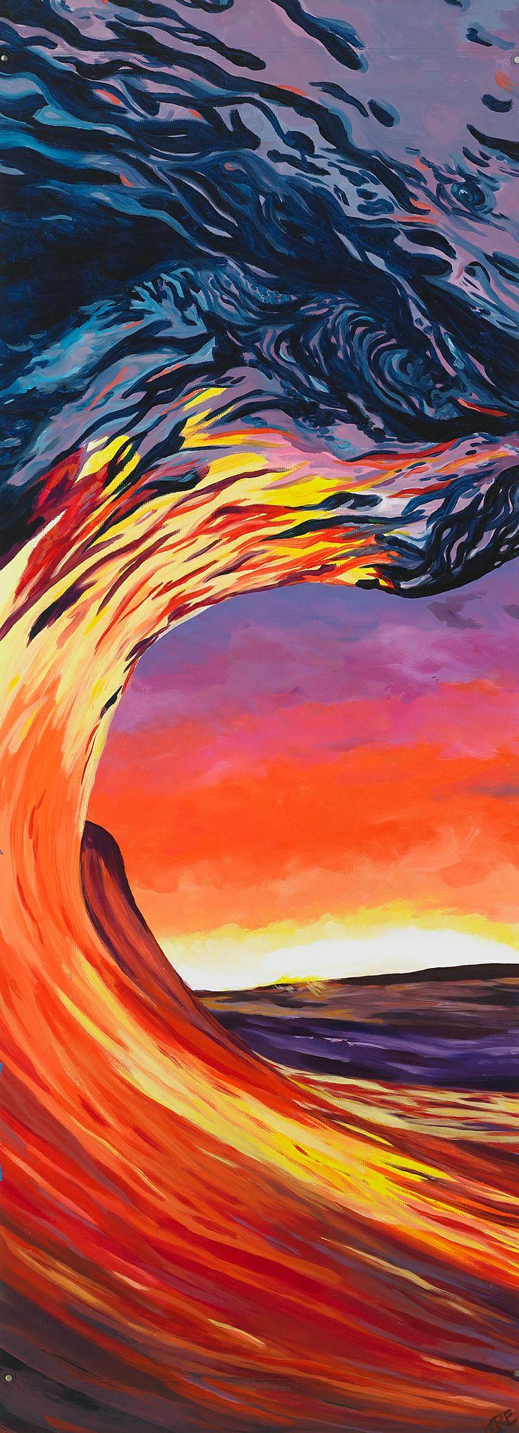 Sunset Wave Painting Inspo