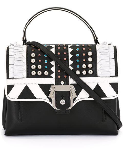 PAULA CADEMARTORI Fringe Embellished Shoulder Bag. #paulacademartori #bags #shoulder bags #suede #