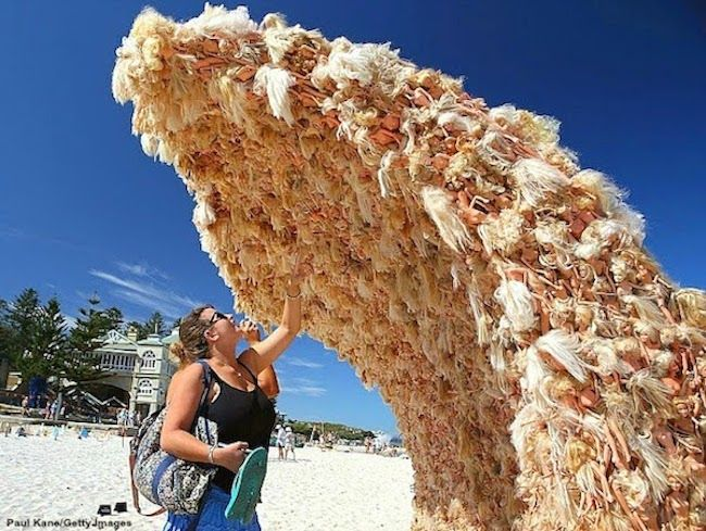 Who knew Barbie could look so nightmarish! Artist Annette Thas has created this giant Barbie wave installation for Sculpture by the Sea in Perth. The event takes place on Cotteslow Beach between 70 local, interstate and international artists. Thas says of her installation: 'The Barbies are used to convey messages. That's why I decided to […]