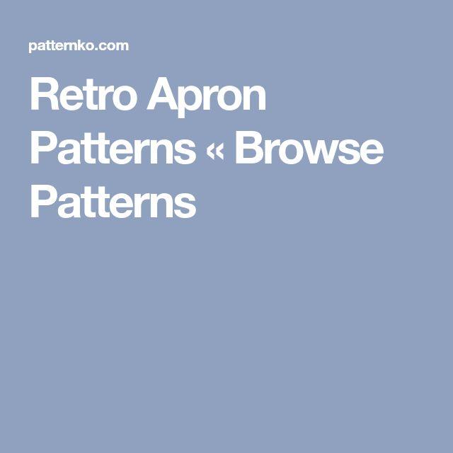 Retro Apron Patterns « Browse Patterns