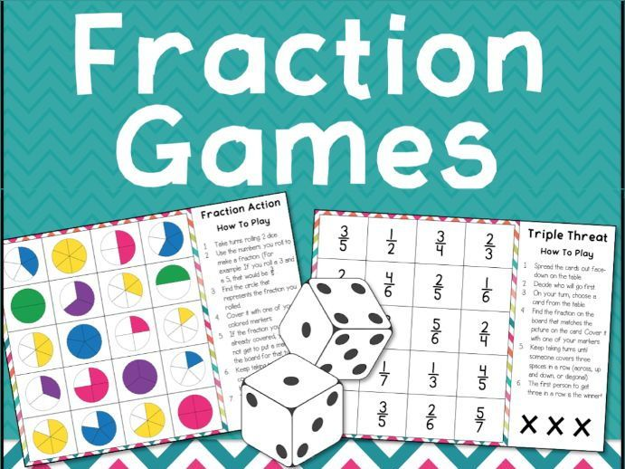 Fractions Games for 2 Players for KS2