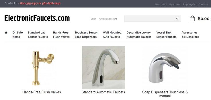 Electronic Faucets offers The World's Finest Selection of Designer , Commercial Automatic Faucets. We also offer, touchless faucets, automatic faucets, designer automatic faucet, sensors commercial faucets .