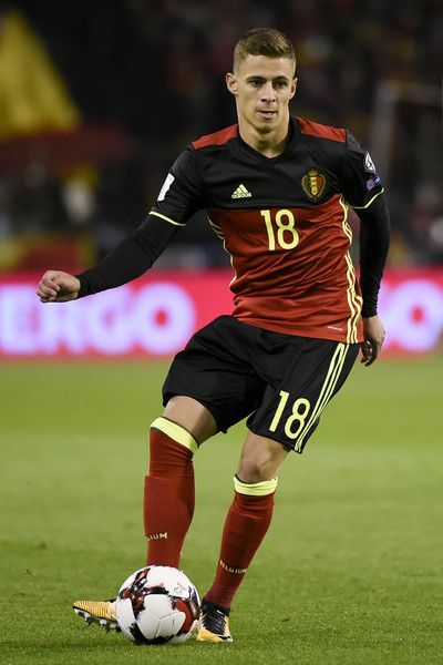 Belgium's midfielder Thorgan Hazard controls the ball during the FIFA World Cup 2018 qualification football match between Belgium and Cyprus, at the King Baudouin Stadium, on October 10, 2017 in Brussels. / AFP PHOTO / JOHN THYS