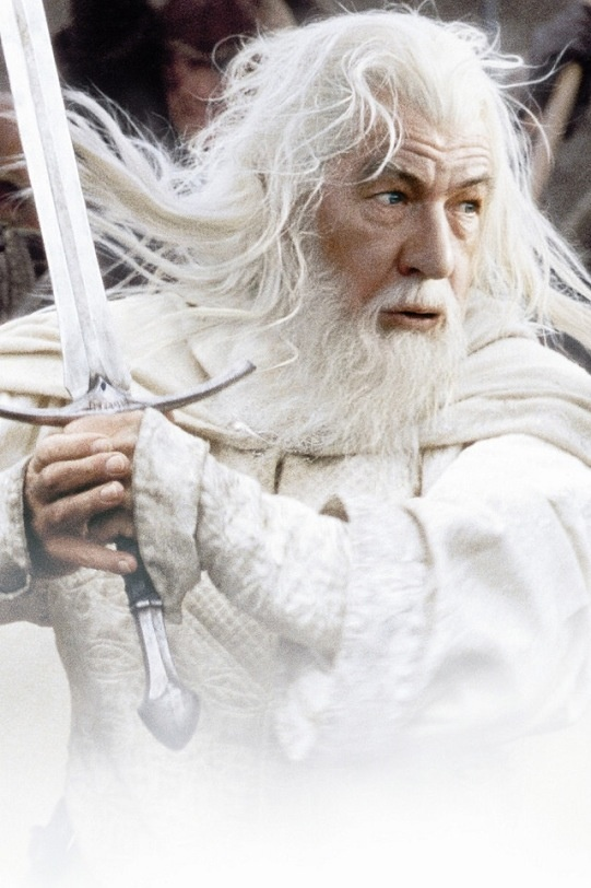 """Ian McKellen as """"Gandalf the White"""" in """"The Lord of the Rings: The Return of the King"""", 2003"""