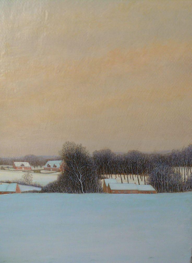 """detail van """"Vlaanderen onder de sneeuw"""""""