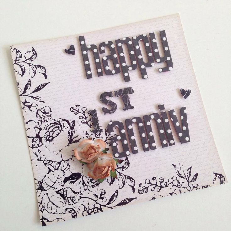 Gift ideas for 1st anniversary #handmadegift #scrapbook #greetingcards #papercraft #giftideas