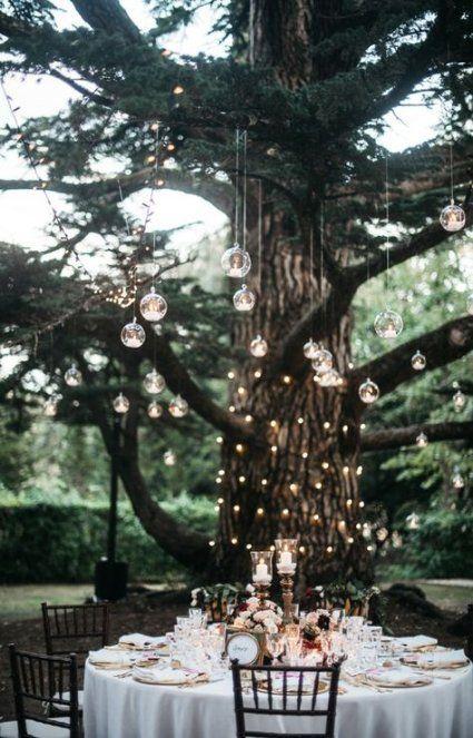 Backyard Hochzeitszeremonie und Empfang Kerzen 27 Ideen   – ● Backyard ●