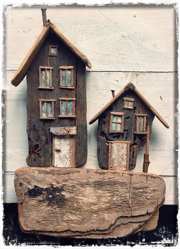 Driftwood Houses by Hans Peter Roersma | Flickr Seems like driftwood goes with rocks, so I'm adding this to Rock Art.