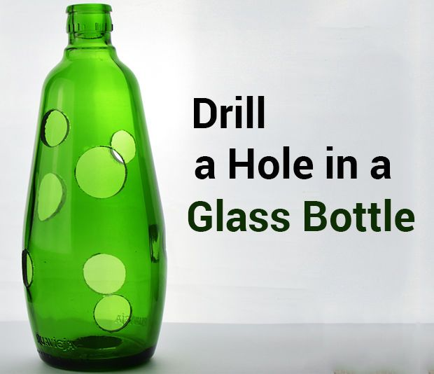 How to Drill a Hole in a Glass Bottle be good for flowers put a flower foam rod in center attached to the lid and stick them through the holes